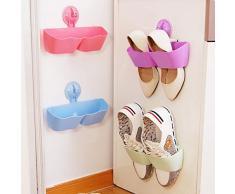 hkfv nueva creativo plástico accesorio de tienda de conveniencia Flip Flop zapatos de pared estante de exhibición soporte estante zapatero armario organizador, Rosa, 25*7*8cm/9.84*2.76*3.15 inch