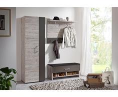 Fashion Home Perchero De Pared Sweethome A3 Natural 100x29.5x77.5 cm