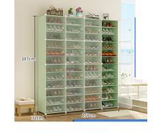 JYXJJKK Estante para Zapatos De Montaje En El Hogar,Multi-Capa Armario De Zapatos A Prueba De Polvo-u