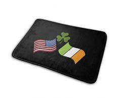 AGHRFH - Felpudo con Bandera de Irlanda y Bandera Estadounidense, Antideslizante, para casa, jardín, Puerta, tapete de Piso 15.7 x 23.5 Pulgadas