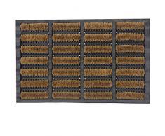 JVL 02-476 Tuffscrape - Felpudo rectangular de goma y fibra de coco (45 x 75 cm, para interiores y exteriores)