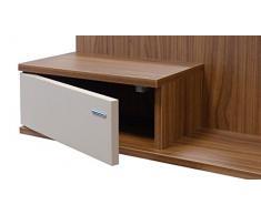 SLAAP - Recibidor con Espejo y cajón Abertura Lateral (80 Ancho x 103 Alto x 25 Fondo)