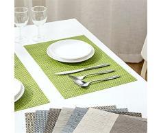 FLYRCX Impermeable de plástico de estilo europeo contra el planchado tapete lavable 4,B