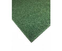Nicoman Felpudo Alfombrilla para Trampero de Barrera, Tapete de Piso Resistente - (Usar en Interiores y Exteriores) - Pequeño (60x40cm), Verde