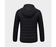 Chaqueta de trabajo térmica calefactable,Rock eléctrico calefacción chaqueta de ropa con de Batería recargable Banco de alimentación recargable, caliente invierno ropa de abrigo, interfaz USB, 5 V