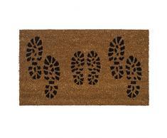 Heavy Duty 100% Fibra de coco Felpudo antideslizante alfombra/Felpudo (40 x 70 cm) – Huella