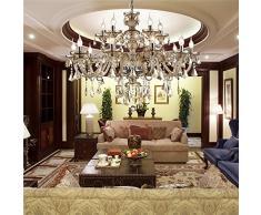 HomeLava Lámpara de Araña de Cristal con 10 Luces Lámpara de Cristal para Salón/Hotel (10 Luces)