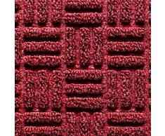 Deco-Mat Felpudo Robusto para Exterior - felpudos Entrada casa - Felpudo Antideslizante con Cepillo de Goma - Alfombrilla para Puerta Delantera - Alfombrillas Rojo - 40x60cm