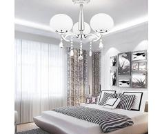 ALFRED Elegante moderna Candelabro de Cristal con 3 Luces (acabado cromado) ,Techo luz,montaje empotrado,Hallway,Bedroom, Living Room