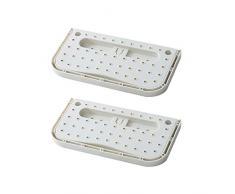 TOPBATHY 4Pcs Soporte de Zapato de Pared de Plástico Zapatillas Plegables Montadas en La Pared Estante Organizador de Zapatos Adhesivos Perchas para El Hogar (Blanco)