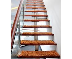 Escalera Alfombra Paso Pad (Set De 1-5 Esteras) Esteras De Escalera ,Alfombrillas De Espuma De , Antideslizante Escaleras Mat Home Mat ( Color : E , Tamaño : 25*60cm/5 )