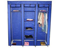 Teprovo armario plegable de 9 estantes - 150 x 45 x 175 cm