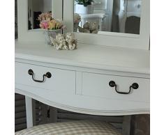 Classic blanco de - tocador con taburete y espejo Triple