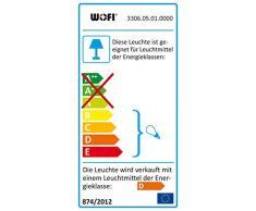 Wofi 3306.05.01.0000 - Lámpara de pie con 5 luces, 170 cm, diámetro: 30 cm, color cromo