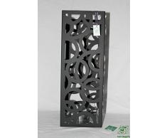 DonRegaloWeb - Paragüero cuadrado de metal en color negro con recipiente de PVC para recoger el agua
