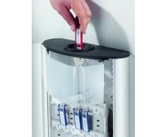 Durable Key Box Plus - Armario para llaves con cerradura de combinación y 6 llaveros, color metálico plateado