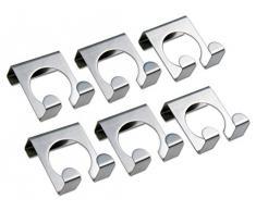 CHG 5151-00 - Perchero de acero inoxidable para puerta (6 unidades), color plateado