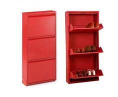 Armario rojo compra barato armarios rojos online en livingo for Zapatero metalico barato