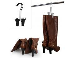 Ahorro de espacio de almacenamiento de la suspensión de para zapatos (3 unidades); Para percha, soporte de arranque, pinzas de arranque (plata)