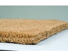 William Armes 2340005 - Felpudo de fibra de coco natural, 90 x 55 cm, tejido a mano