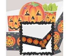 Mantel calabaza Halloween Sobremesa infantil Mantel de mesa Cubre mesa noche de brujas Carpeta con caras de calabaza Tapete hule ornamental de mesa Cubremesas lavable fiesta de niños