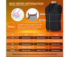 Chaleco de mujer con calefacción USB, Chaqueta térmica de 5 V con calefacción Ropa calentador almohadilla térmica para hombres y mujeres, Alimentado por una batería recargable del banco de energía (L)