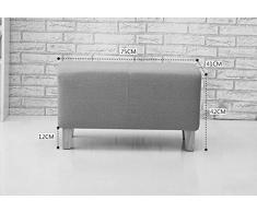 HJHY® Taburete de sofá Tienda de ropa de banco largo Taburete de descanso Tienda de sala de estar Dormitorio de habitación vestuario Sala de montaje taburete de balcón correcta postura sentada ( Color : #6 )