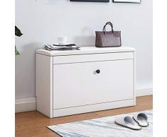 Banco de almacenamiento de zapatos blanco con Flip-cajón, zapatero Cabina de almacenaje del zapato estante del gabinete del zapato de madera con el amortiguador de asiento for Pasillo Dormitorio