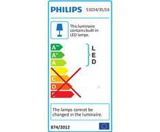 Philips myLiving Dyna - Barra de focos, iluminación interior, 4 focos, LED, IP20, luz blanca cálida, color azul