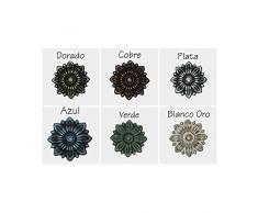Consola de forja Claudia - Blanco con oro, Consola + espejo con 5% de descuento.