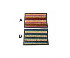 Felpudo de fibra de coco - Modelo Rayas (60x40x1 cm) - A