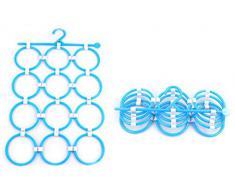 Demarket Gancho plegable Con 12 anillos-Azul