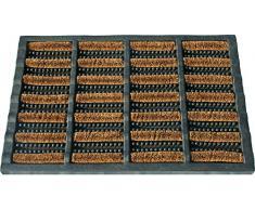 ID mate 4060 combimat alfombra Felpudo fibra coco/acero galvanizado/goma beige 60 x 40 x 2,29 cm)
