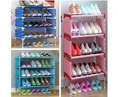benbroo 5 Tier zapatero organizador de almacenamiento a prueba de soporte organizador de zapatos estante de almacenamiento fácil de montar