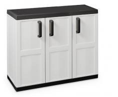 Toomax Comfort Line S - Mueble bajo, 3 puertas, 2 estantes