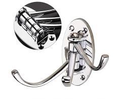 KANGIRU Metal sólido Heavy Duty Swing Arm Gancho Triple Gancho Giratorio Plegable Perchero montado en la Pared para baño Cocina Dormitorio Gancho Giratorio Plateado
