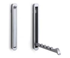 gedotec®-Gancho perchero Colgador Ventilador sombrero gancho plegable mital | 140x 16/128mm, acabado en acero inoxidable, marca de calidad