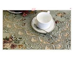 Max Home@ mantel bordado mesa redonda de estilo europeo tejido de encaje jardín muela silla manteles de mesa de la bandera tapete de mesa de café ( Tamaño : 60*120cm )