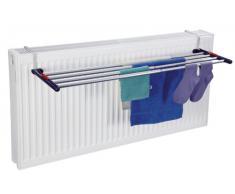 Leifheit Quartett 42 - Tendedero colgantes para radiador de acero inoxidable, 61.4x3.9x27.9 cm, color azul y plata