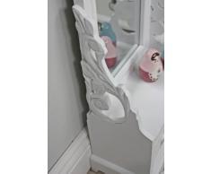 Tocador tocador de madera blanco antiguo estilo rústico espejo de tocador