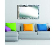 Lienzos Levante Espejo Decorativo Baño/Recibidor, Madera, Blanco, 116 x 76 cm