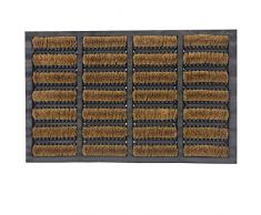 JVL 02-170 Tuffscrape - Felpudo de goma y fibra de coco (40 x 60 cm, para interiores y exteriores)