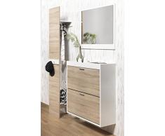 484-003 escudo panel ropa traje de estante montado en la pared perchero de colour gris oscuro/arena decorativo Roble fiebre aftosa