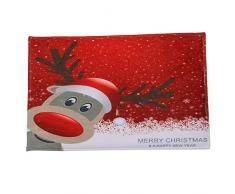 Decoración de Navidad,Dragon868 40x60CM Navidad puerta de bienvenida felpudos interiores hogar alfombras cubiertas A