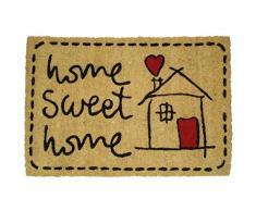 Koko Doormats Sweet Home Felpudo, Coco, 40 x 60 cm