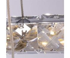 CLAXY Moderna Cristal Lámpara de Araña Lámpara de Techo en forma de Anillo Vidrio Lámpara Colgante Iluminación Interior