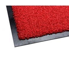 acerto 30205 Alfombrilla antisuciedad Premium Zanzibar Rojo 40x60cm * Extremadamente Resistente * Exterior e Interior * Resistente a Las heladas * Libre de PVC - Limpia Puerta de Entrada Alfombrilla