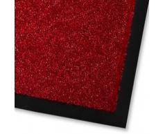 casa pura Alfombras Entrada casa - Alfombras de Vinilo | Felpudo Mono | Tapete Exterior o Interior | Lavable | Diversos Colores (Rojo, 60x90 cm)