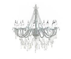 vidaXL Lámpara Colgante Clásica de Araña 1600 Cristales Luz de Techo Cristal
