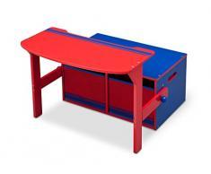Delta Children 3 en 1 Banco de almacenamiento y escritorio (Azul/Rojo)